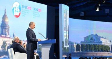 Russia's Vladimir Putin speaking at SPIEF. Photo Credit: Kremlin.ru