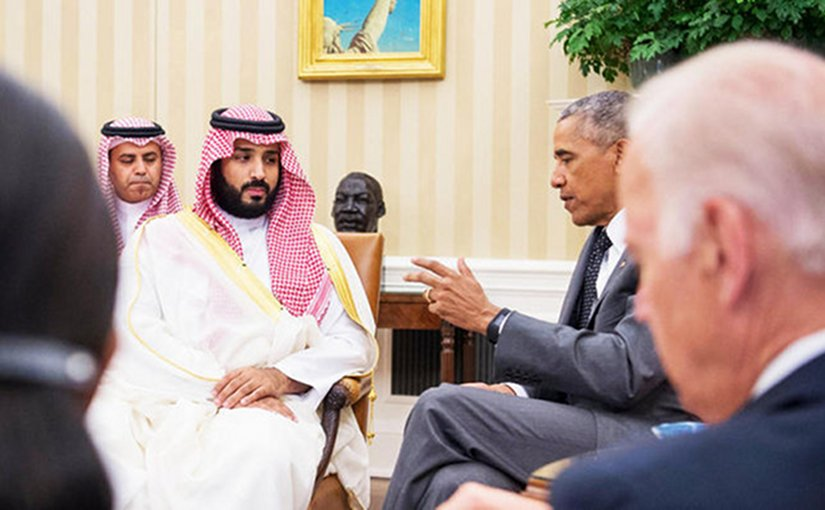 Saudi Arabia's Deputy Crown Prince Mohammed bin Salman meets with US President Barack Obama. Photo Credit: SPA