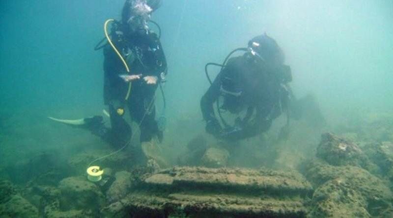 The ancient underwater remains of a long lost Greek city were in fact created by a naturally occurring phenomenon -- according to joint research from the University of East Anglia and the University of Athens (Greece). Credit University of Athens