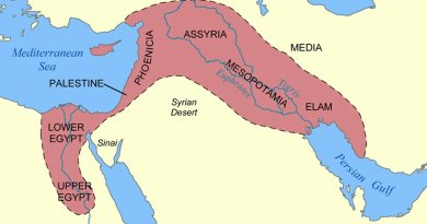 fertile crescent . Souce: Wikipedia Commons.
