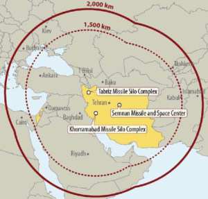 Iranian MRBM Sites & Ranges  Source: Congressional Research Service