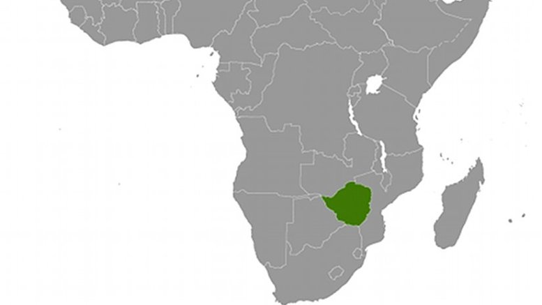 Location of Zimbabwe. Source: CIA World Factbook.