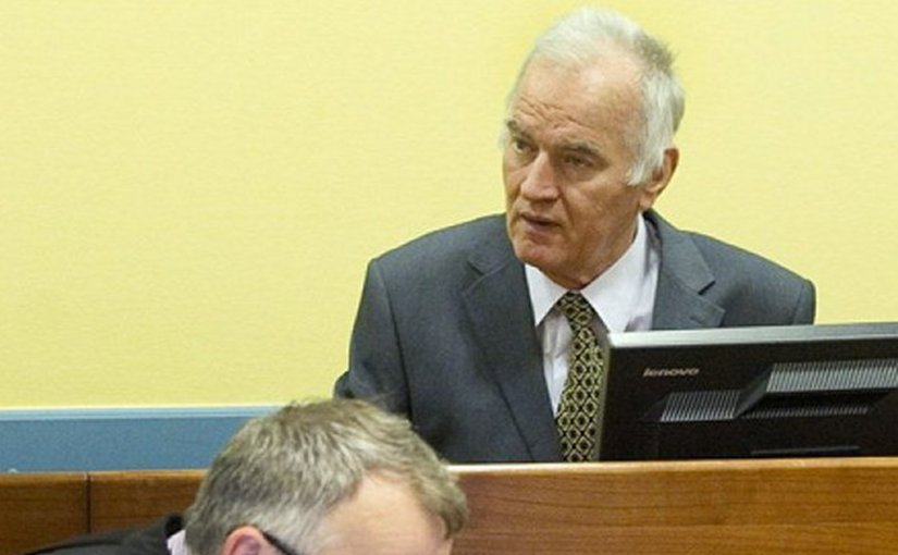 Ratko Mladic in court. Photo: ICTY.