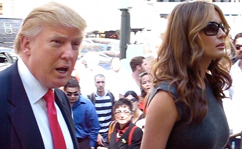 Melania and Donald Trump. File photo by Boss Tweed, Wikipedia Commons.