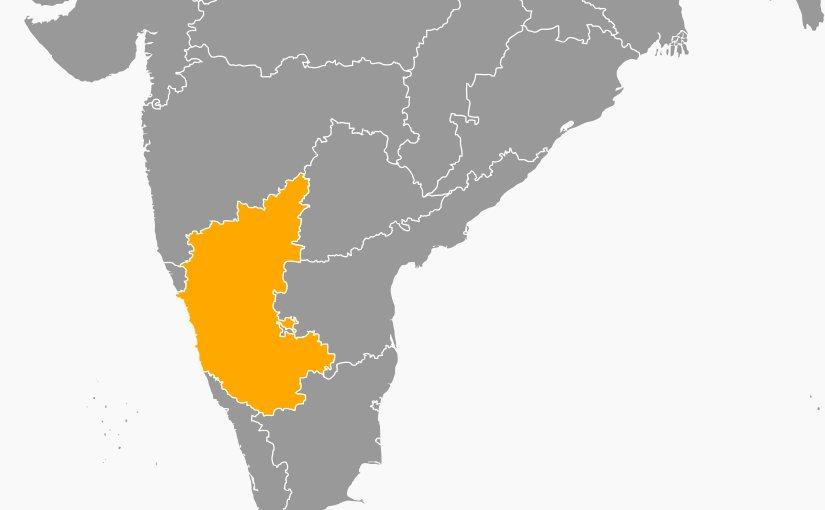 Location of Karnataka in India. Source: Wikipedia Commons.