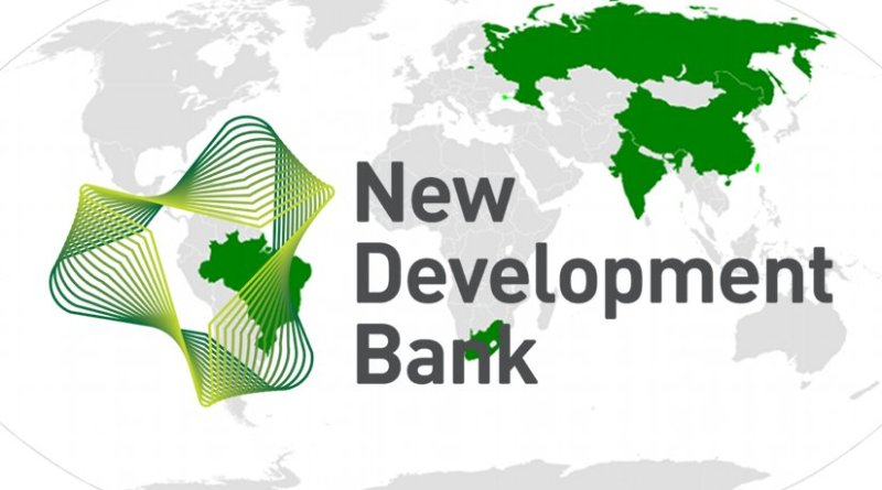 BRICS - Brazil, Russia, India, People's Republic of China, South Africa - and logo of New Development Bank. Source: Wikipedia Commons.
