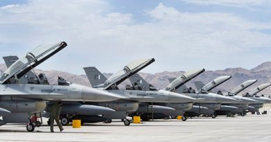 Pakistan Air Force (PAF) F-16s. U.S. Air Force photo by Lawrence Crespo, Wikipedia Commons.