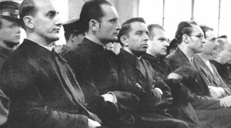 Stepinac at his trial. Photo: Wikimedia Commons