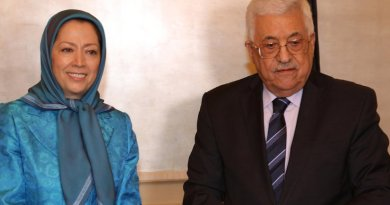 Maryam Rajavi and Mahmud Abbas