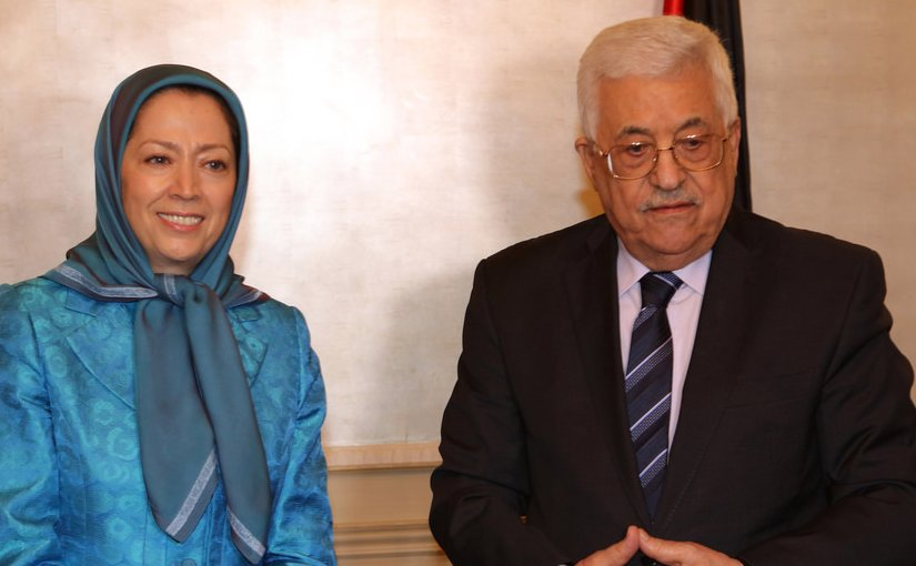 Maryam Rajavi and Mahmud Abbas