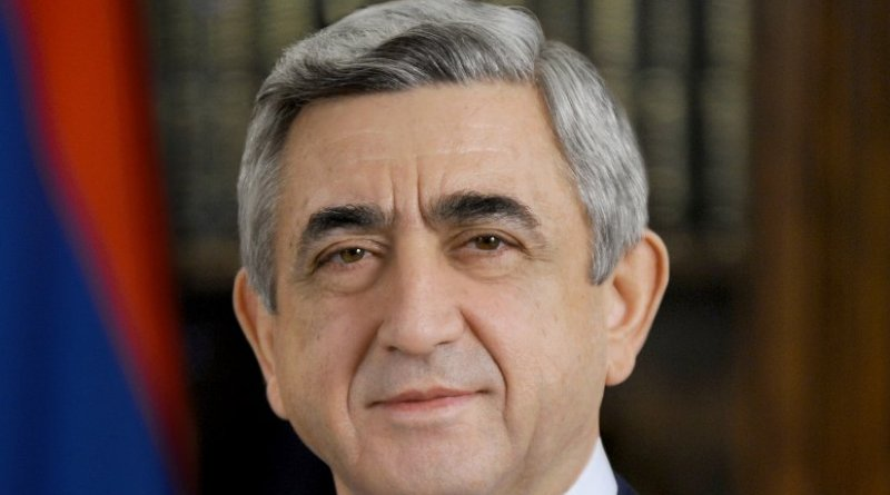 Armenia's Serzh Sargsyan. Official Portrait, Wikipedia Commons.