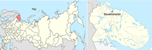 Severomorsk, Murmansk Oblast (Source: Wikipedia)