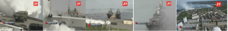 Russia's TV21 broadcast footage of Russian troops Source: TV21