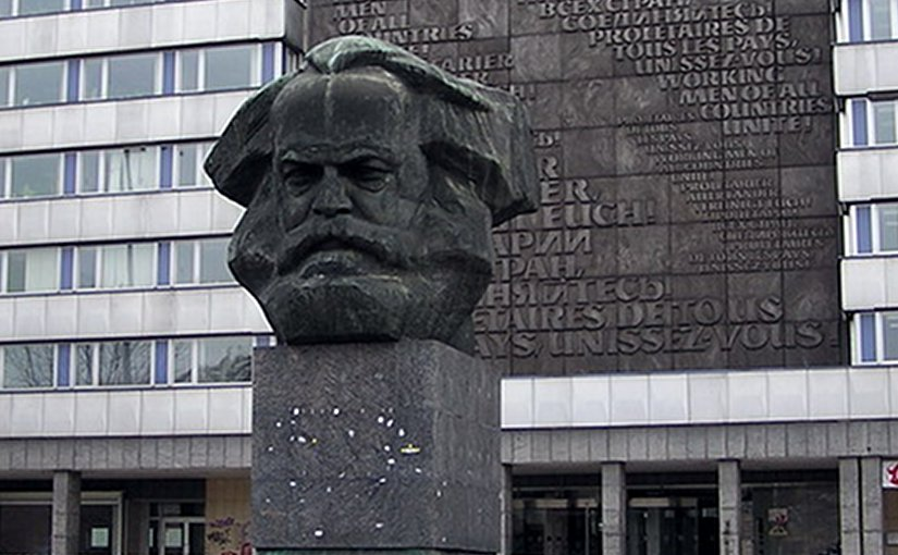 GDR-era Karl Marx monument in Chemnitz (renamed Karl-Marx-Stadt from 1953 to 1990). Photo by RobbyBer, Wikipedia Commons.