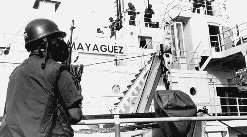 Marines storm SS Mayaguez to recover ship (DOD/Michael Chan)