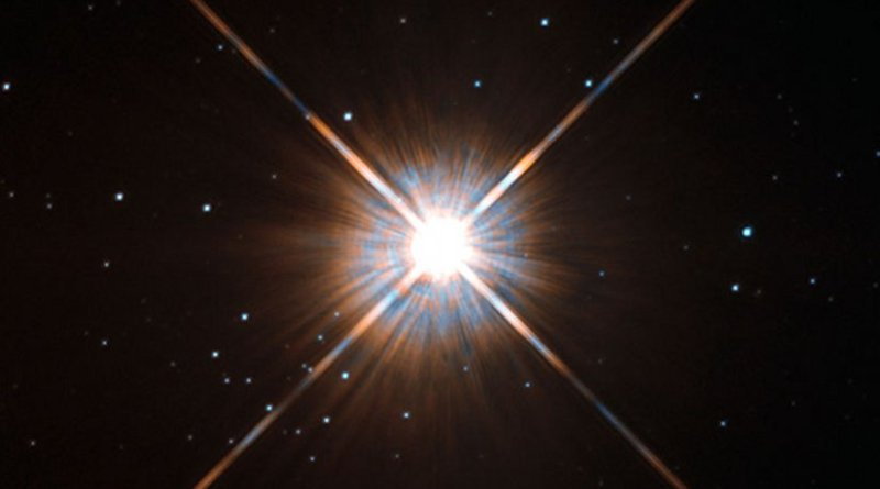 Proxima Centauri as seen by Hubble. Photo by ESA/Hubble, Wikipedia Commons.