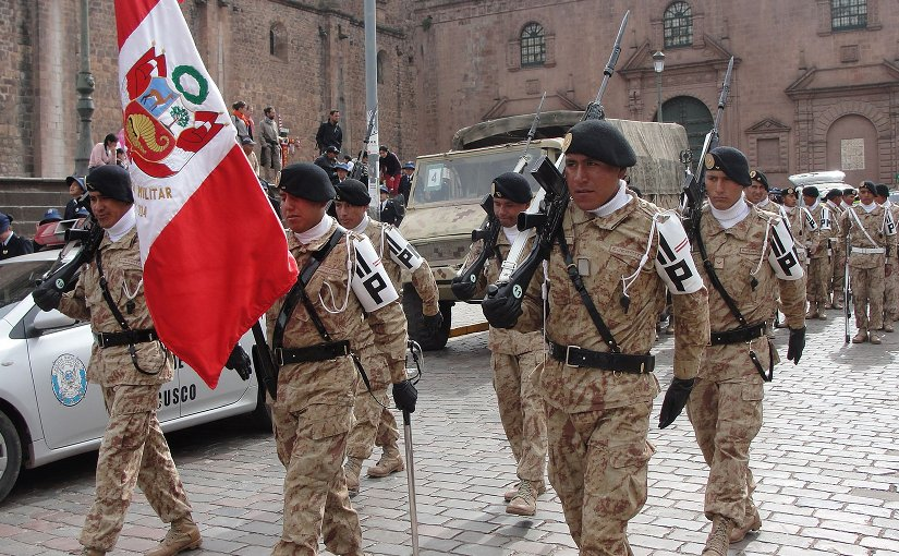 Peruvian Army Parade. Photo by Jersey Devil, Wikimedia Commons.