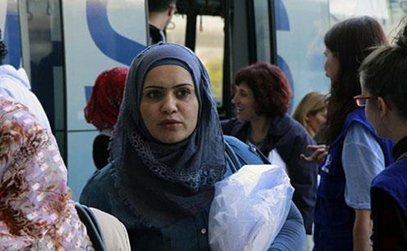 Refugees arriving in Spain. Photo Credit: Pool Moncloa/Jorge Villar