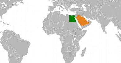 Locations of Egypt and Saudi Arabia. Source: Wikipedia Commons.