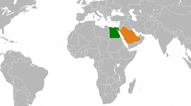 Locations of Egypt and Saudi Arabia. Source: Wikipedia Commons.