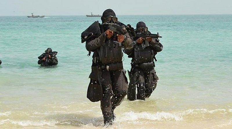 Saudi Arabia Navy personnel participate in Exercise Gulf Shield 1. Photo Credit: SPA