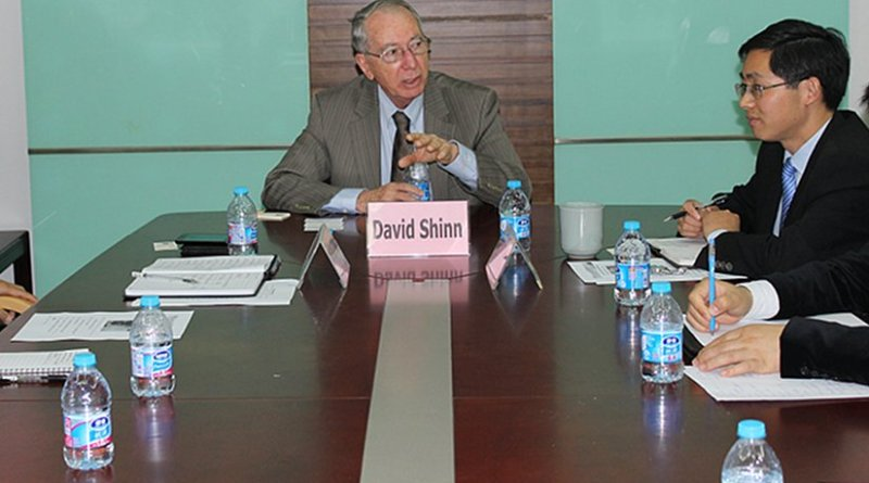 David Shinn, an Adjunct Professor in the Elliott School of International Affairs, a former U.S. Ambassador to Ethiopia and Burkina Faso, and previously served as a Director of the Office of East African Affairs in Washington. Photo Credit: David Shinn.