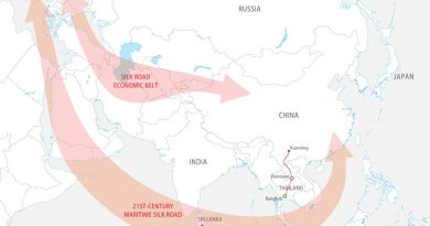 China's Silk Road Economic Belt and the 21st-Century Maritime Silk Road. Credit: FPRI