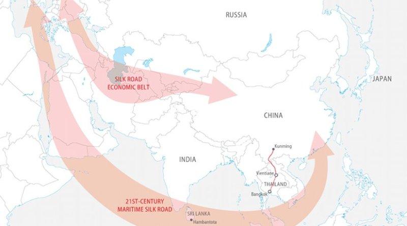 China's Silk Road Economic Belt and the 21st-Century Maritime Silk Road. Credit: FPRI