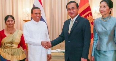 Sri Lanka's President Maithripala Sirisena and Thailand's Prime Minister Prayut Chan-o-cha. Photo Credit: Sri Lanka government.
