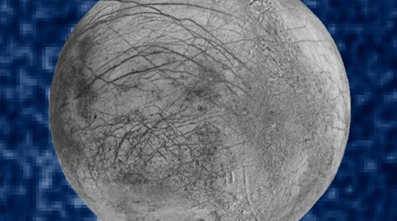 This composite image shows suspected plumes of water vapor erupting at the 7 o'clock position off the limb of Jupiter's moon Europa. The plumes, photographed by NASA's Hubble's Space Telescope Imaging Spectrograph, were seen in silhouette as the moon passed in front of Jupiter. Hubble's ultraviolet sensitivity allowed for the features -- rising over 100 miles (160 kilometers) above Europa's icy surface -- to be discerned. The water is believed to come from a subsurface ocean on Europa. The Hubble data were taken on Jan. 26, 2014. The image of Europa, superimposed on the Hubble data, is assembled from data from the Galileo and Voyager missions. Credit Credits: NASA/ESA/W. Sparks (STScI)/USGS Astrogeology Science Center