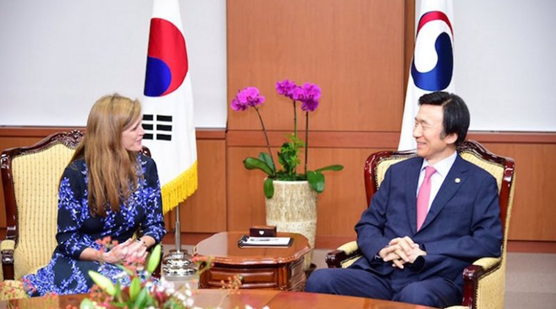 Ambassador Power with ROK Minister of Foreign Affairs. Credit: US Mission to the UN @USUN