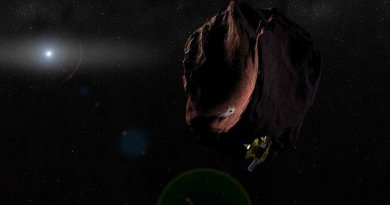 Artist rendition of New Horizons spacecraft