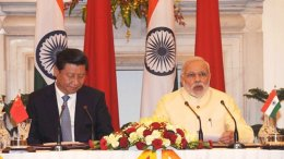 India's Prime Minister Narendra Modi with China's President Xi Jinping. Photo Credit: Narendra Modi, Wikipedia Commons.