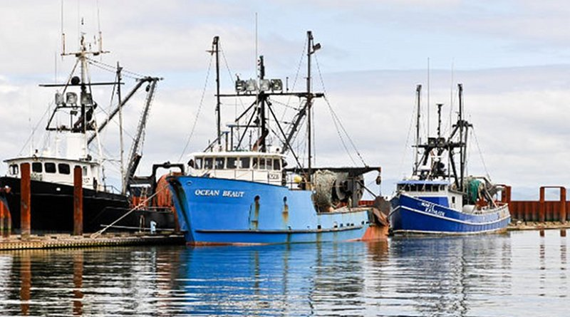 Fishing fleet in Astoria, Oregon (USA).