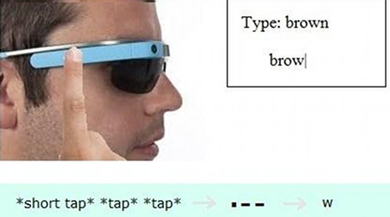 Study participants tapped Morse Code into Google Glass after four hours. Credit Georgia Tech/Caitlyn Seim