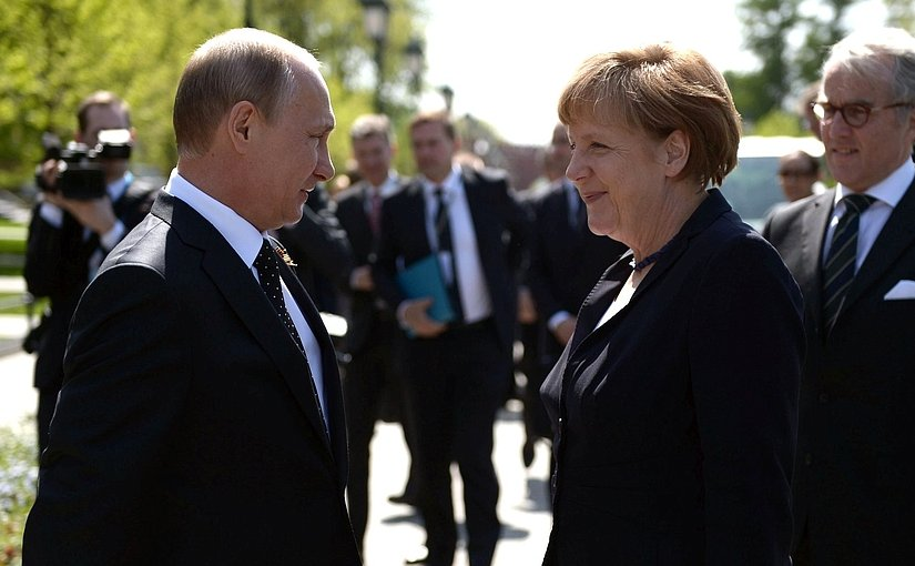 Russia's Vladimir Putin and Germany's Angela Merkel. Photo: Kremlin.ru