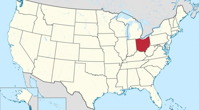 Location of Ohio in United States. Credit: Wikipedia Commons.