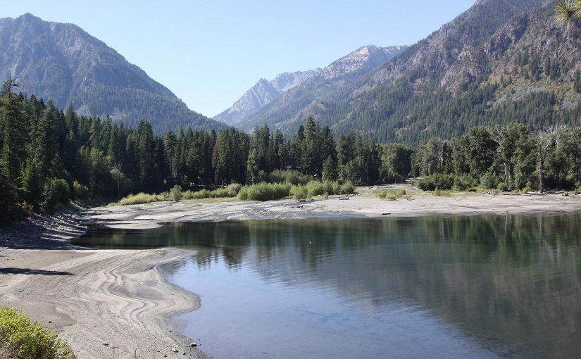 The year 2015 was the warmest on record for Oregon, resulting in low snowpacks and less water in many lakes and rivers. Pictured is Wallowa Lake in northeastern Oregon. Credit Oregon State University