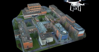 By using both the aerial photographs taken by the drone and photogrammetry software, researchers were able to create highly detailed 3D models of urban environments. Photo: Vasilii Semkin / Aalto University