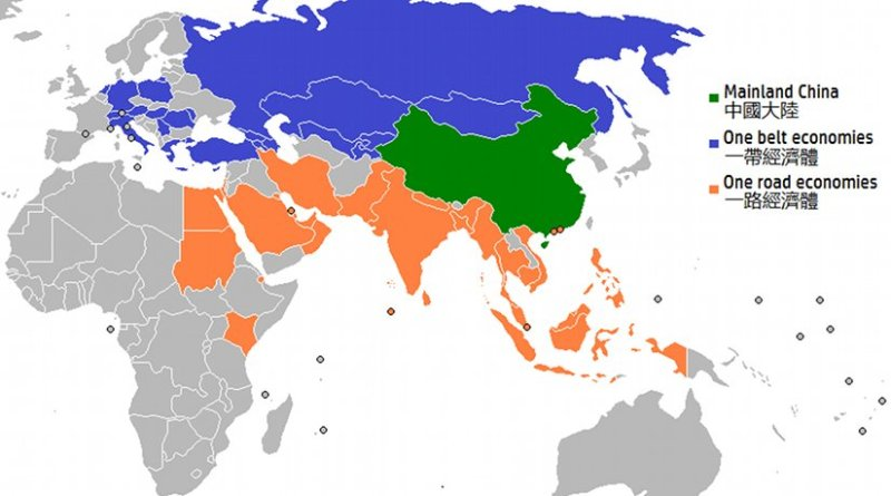 China and One Belt, One Road Economies. Graphic by Tart, Wikipedia Commons.