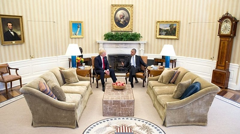 President Barack Obama meets with President-elect Donald Trump in the Oval Office, Nov. 10, 2016. (Official White House Photo by Pete Souza)