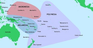 Three of the major groups of islands in the Pacific Ocean. Credit: Wikimedia Commons