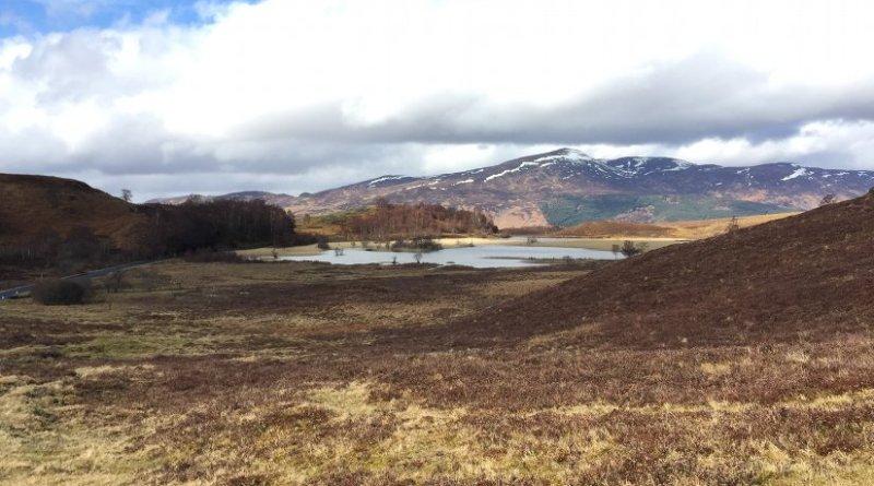 Glencorse Reservoir. a reservoir in Midlothian, Scotland, UK.