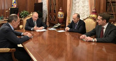 Russian President Vladimir Putin discussing countermeasures after the assassination of Andrei Karlov. Photo Credit. Kremlin.ru
