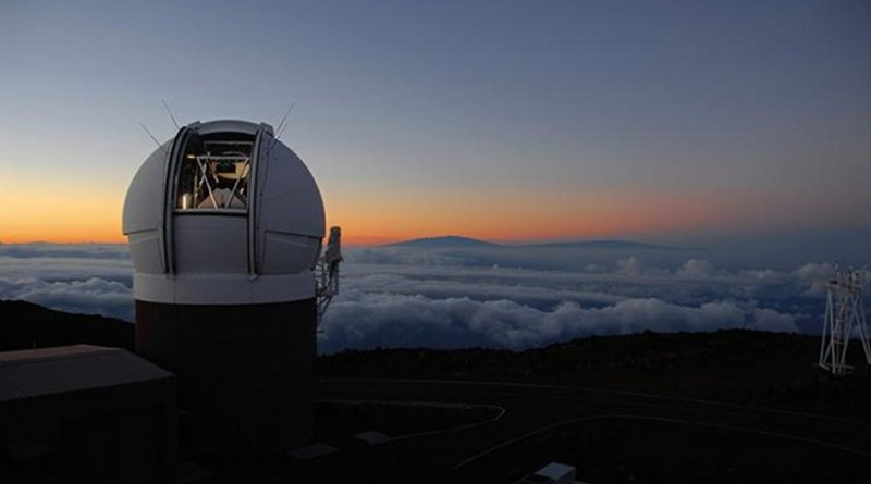 This compressed view of the entire sky visible from Hawai'i by the Pan-STARRS1 Observatory is the result of half a million exposures, each about 45 seconds in length, taken over a period of four years. The shape comes from making a map of the celestial sphere, like a map of the Earth, but leaving out the southern quarter. The disk of the Milky Way looks like a yellow arc, and the dust lanes show up as reddish brown filaments. The background is made up of billions of faint stars and galaxies. If printed at full resolution, the image would be 1.5 miles long, and you would have to get close and squint to see the detail. Credit Credit: Danny Farrow, Pan-STARRS1 Science Consortium and Max Planck Institute for Extraterrestial Physics
