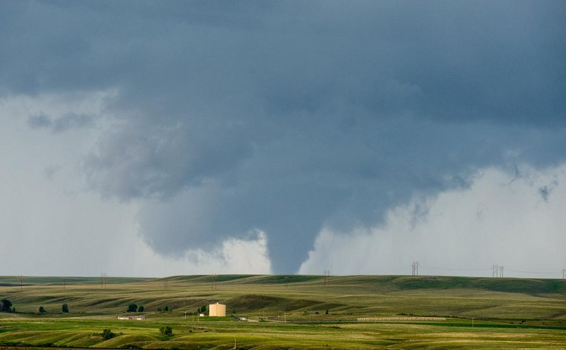 This is a tornado near Elk Mountain, west of Laramie Wyoming on the 15th of June, 2015. The tornado passed over mostly rural areas of the county, lasting over 20 minutes. Credit John Allen/Central Michigan University