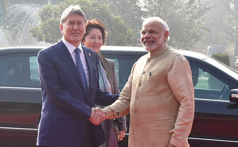 Kyrgyzstan's President Atambayev and India's PM Narendra Modi. Photo Credit: India's PM office.