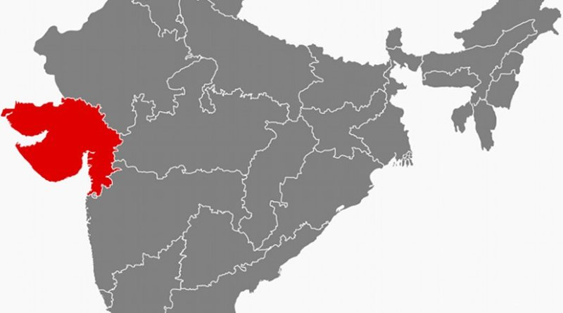 Location of Gujarat in India. Source: Wikipedia Commons.