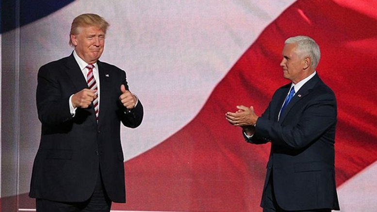 Donald Trump and Mike Pence. Photo by Ali Shaker/VOA, Wikipedia Commons.