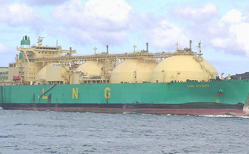 LNG carrier. Photo by Pline, Wikipedia Commons.